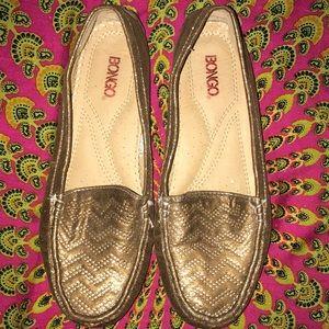 Like new Bongo golden sparkle loafers